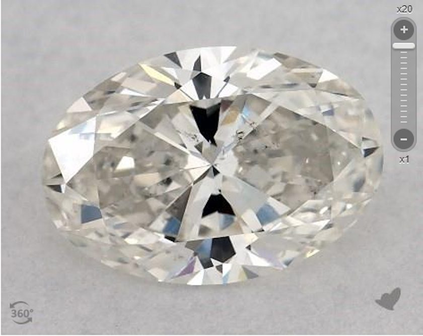 oval diamond with large table