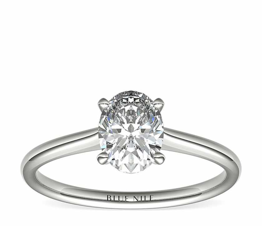 1-ct oval-cut diamond - solitaire setting