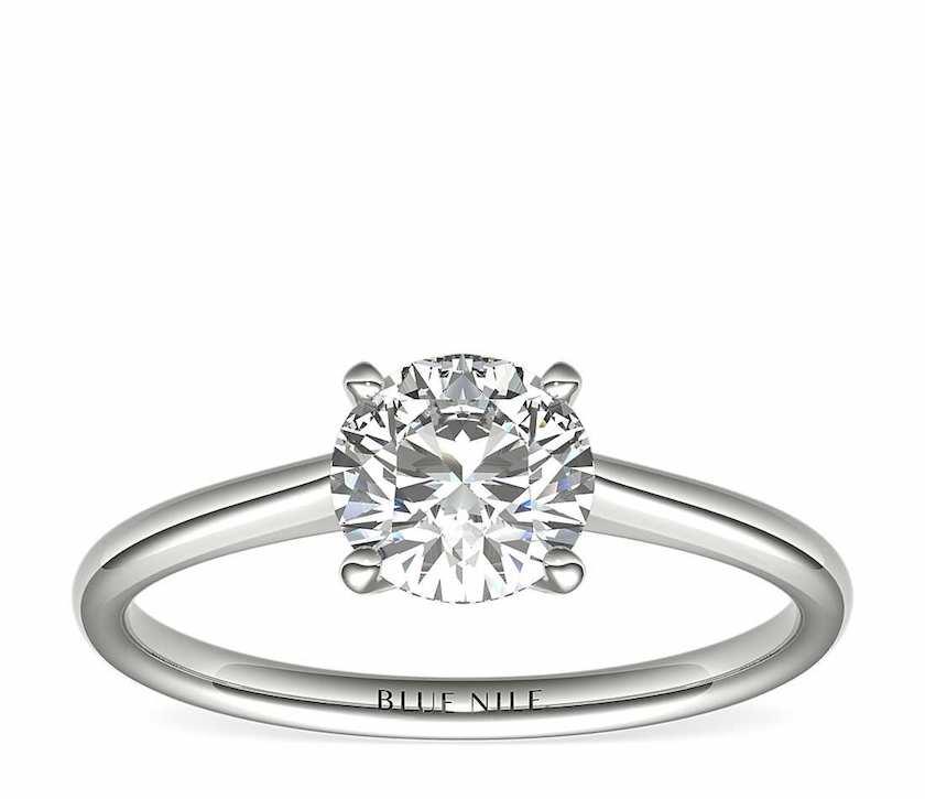 1-ct round diamond - solitaire setting
