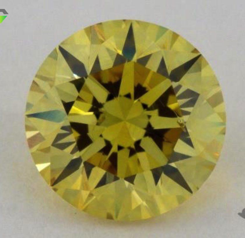 1.02-ct fancy intense yellow