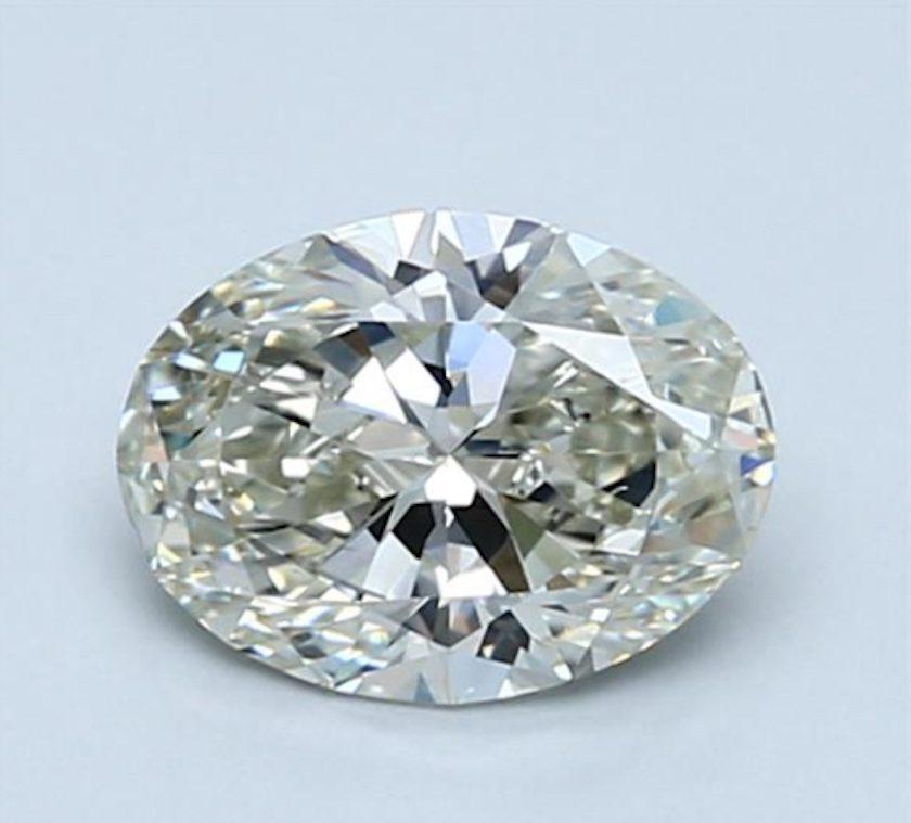 Oval diamond - J SI1