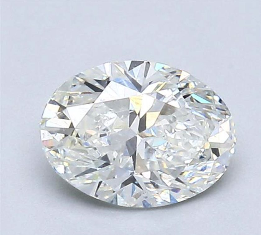 one-carat oval diamonds - 54% table width