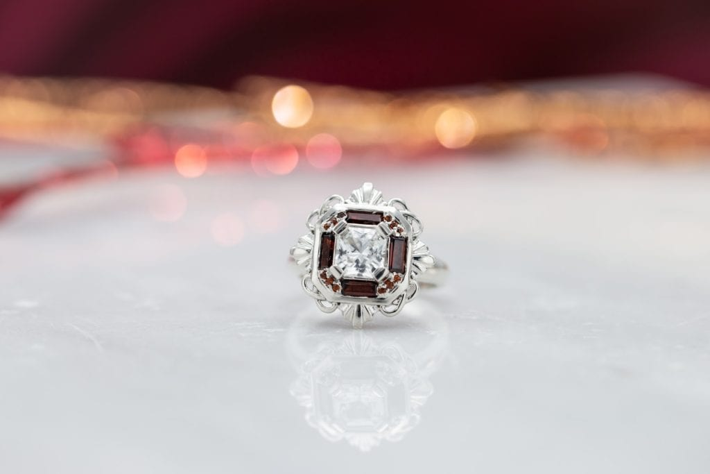 Art Deco-inspired engagement ring