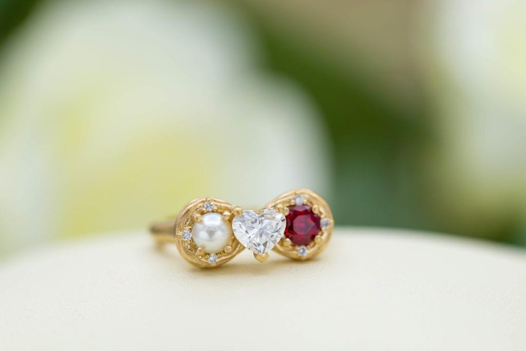 heart-cut diamond - infinity ring