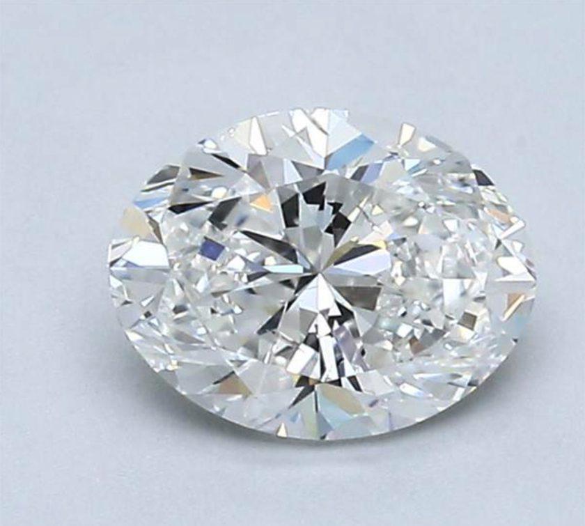one-carat oval diamonds - 63% table width