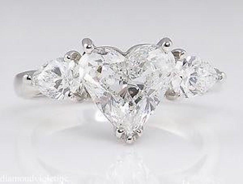 G color heart-cut diamond - platinum