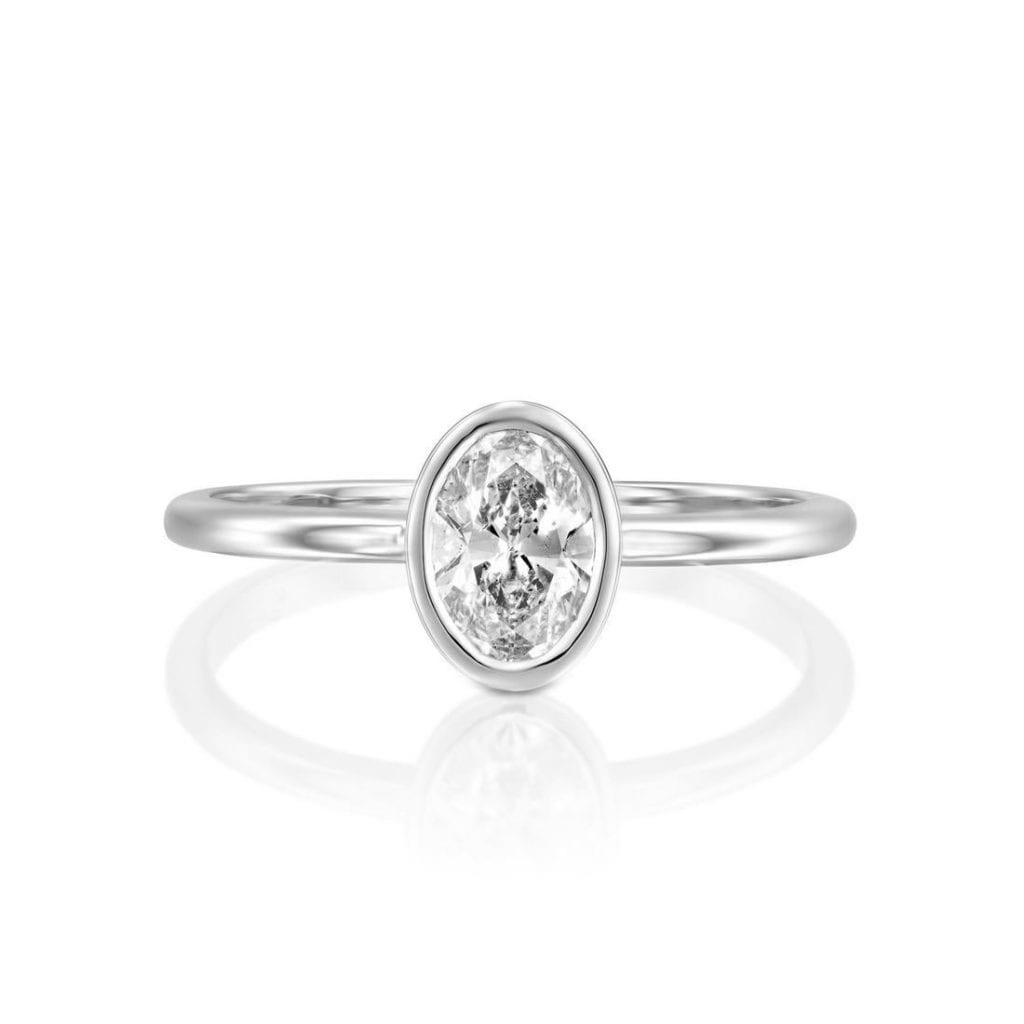 VS2-SI1 clarity oval diamond