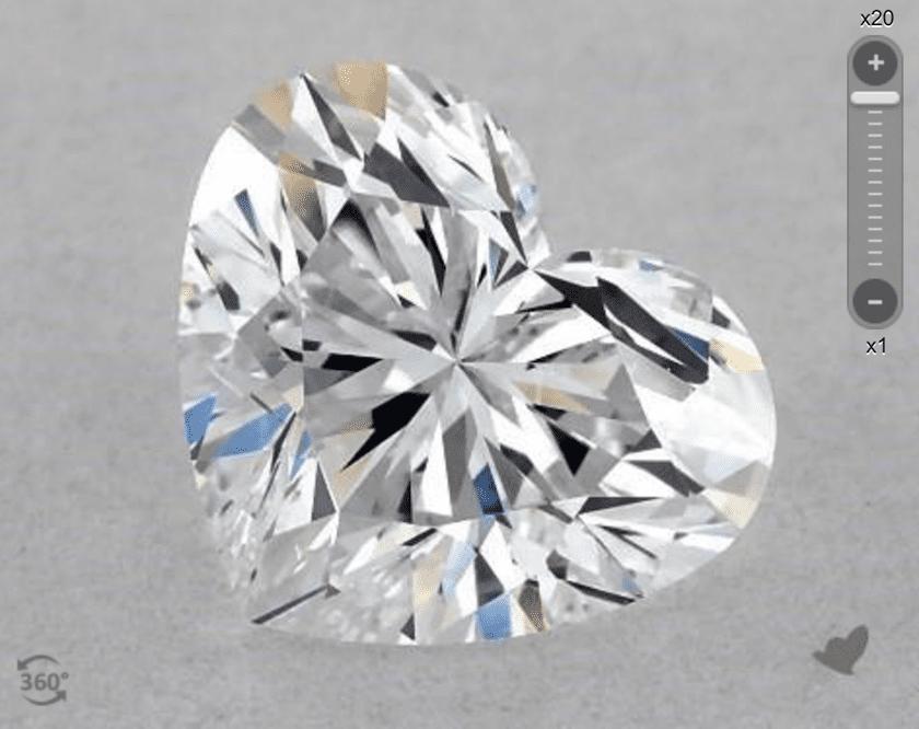 D color - heart-cut diamond