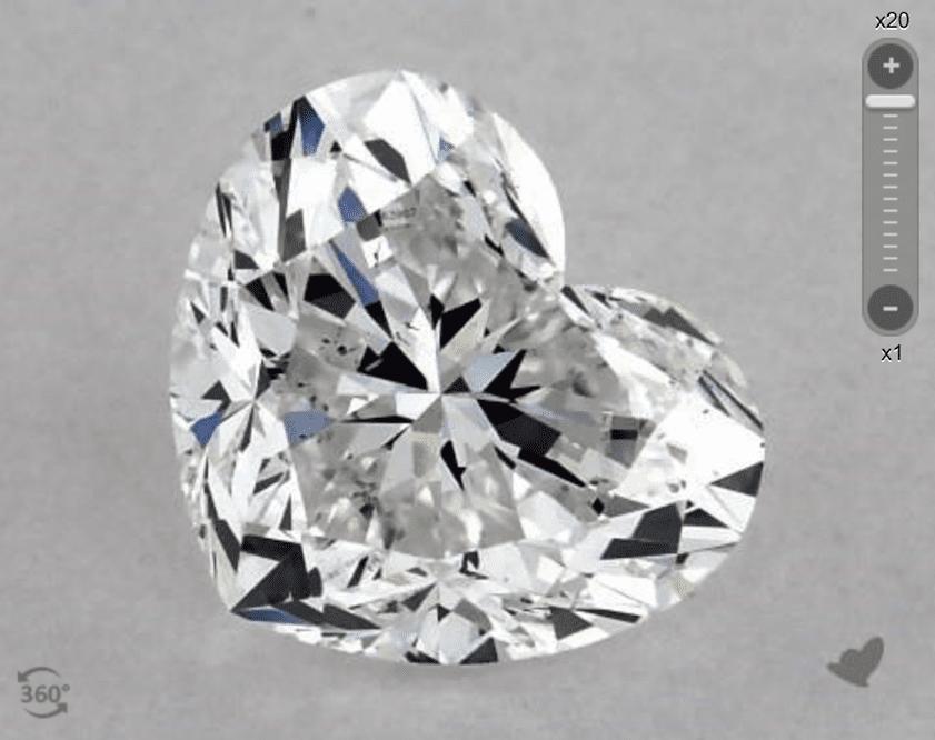 E color - heart-cut diamond