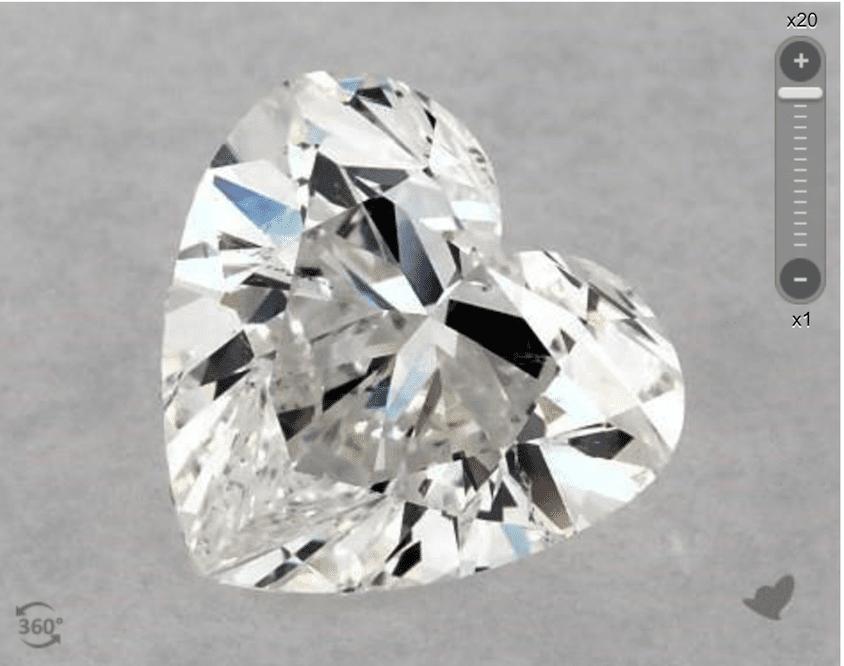 F color - heart-cut diamond