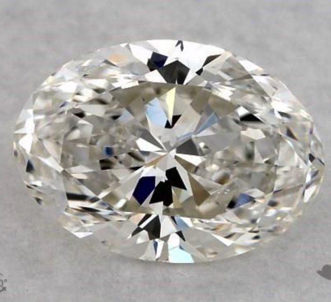 one-carat oval diamonds - G color