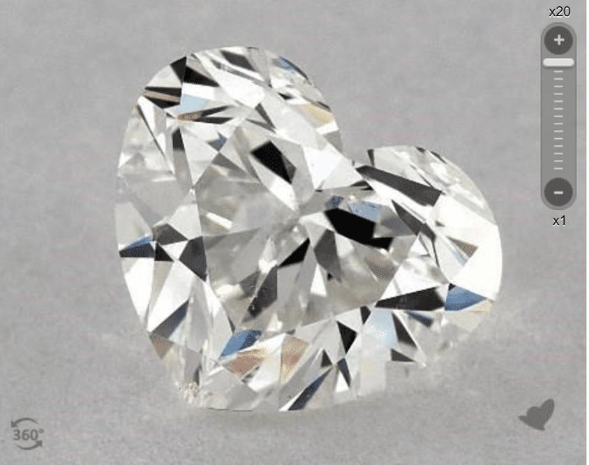 G color - heart-cut diamond