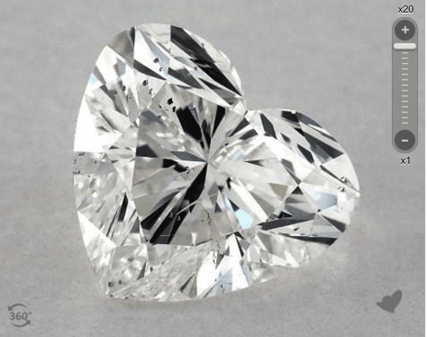 H color - heart-cut diamond