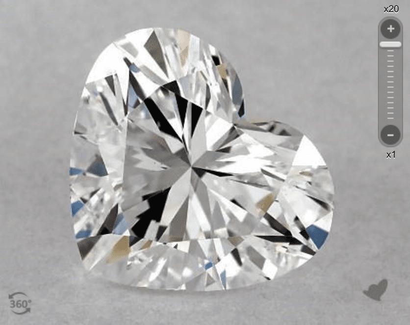 SI1 clarity - heart-cut diamond