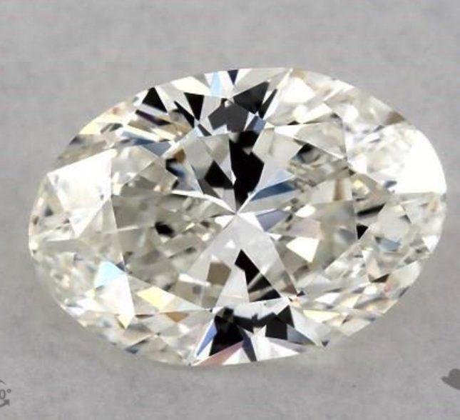 one-carat oval diamonds - I color