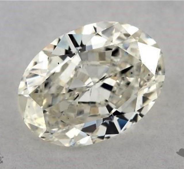 one-carat oval diamonds - J color