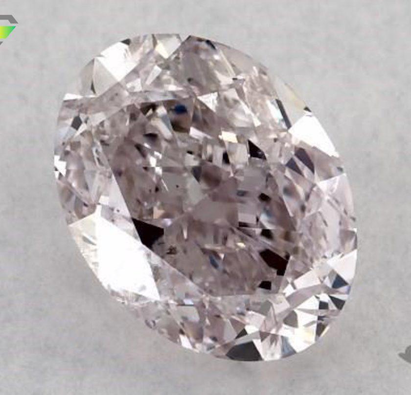 oval-cut diamond - fancy purplish pink
