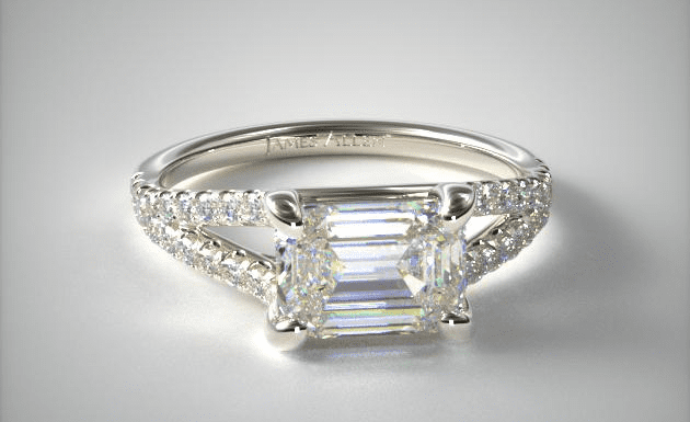 Emerald-cut diamond ring from James Allen
