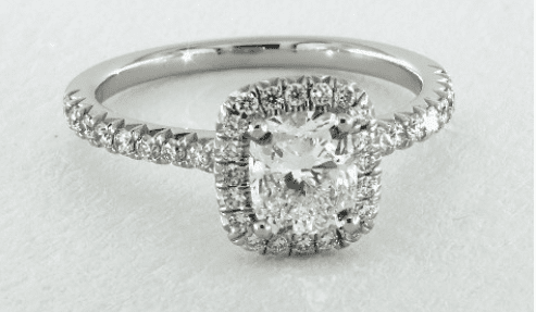 Cushion Cut Halo Ring from James Allen