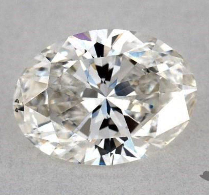 SI1 clarity oval diamond