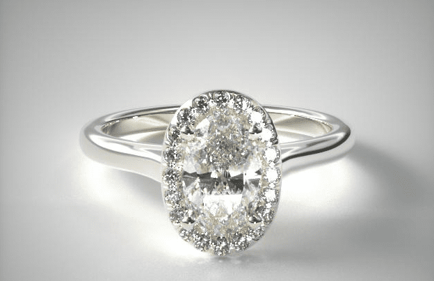 Oval diamond pave ring from James Allen