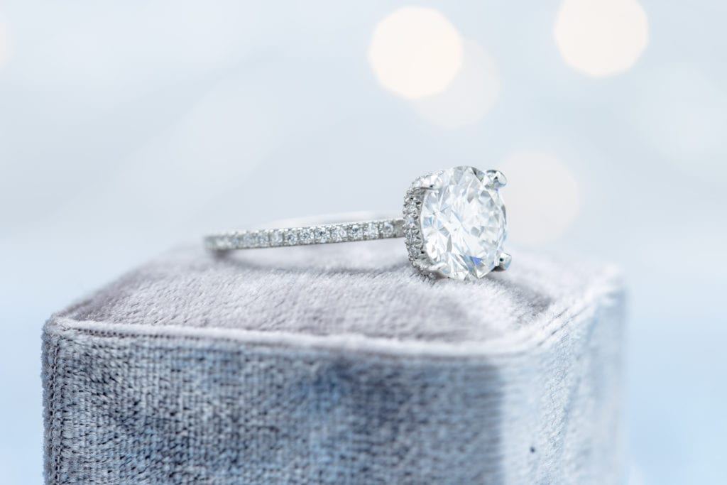 diamond engagement ring - lab-created