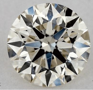 M color round diamond