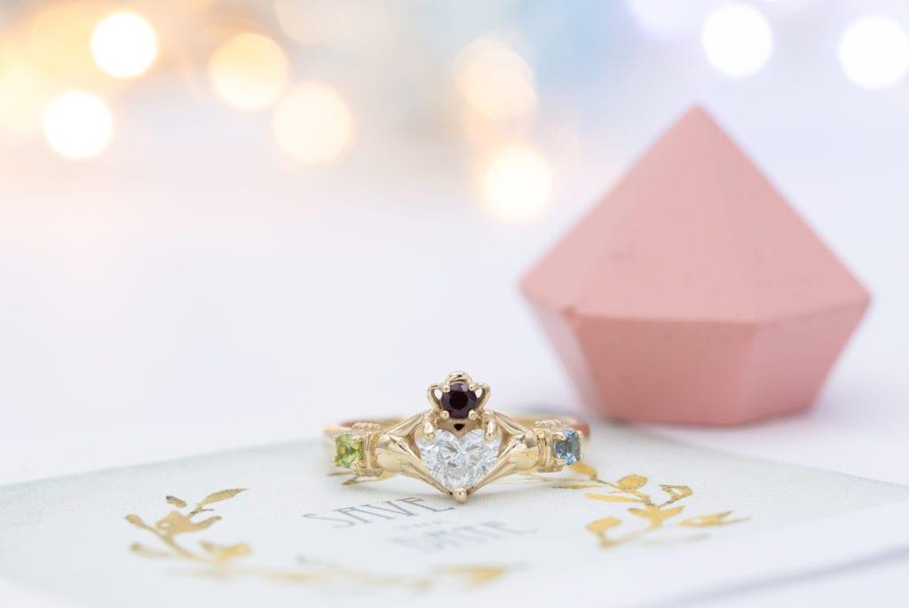 heart-cut diamond ring