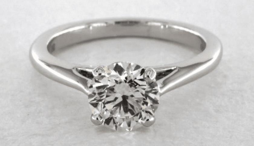 I color diamond in white gold