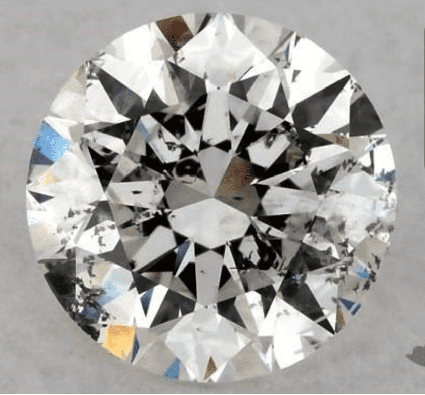 SI2 clarity diamond - large inclusion