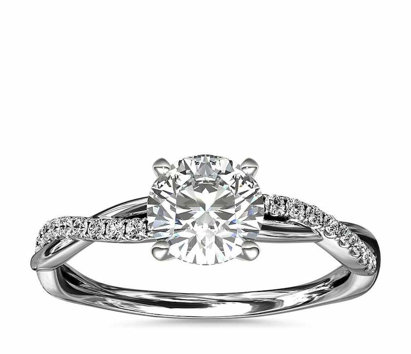 side-stone ring setting