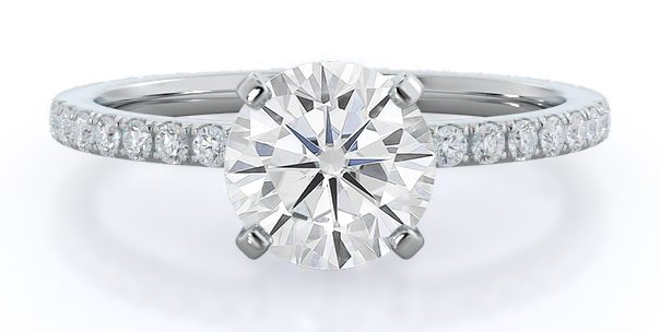 Pavé Moissanite Ring