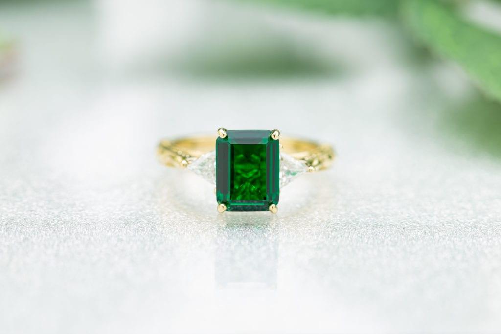emerald-cut emerald