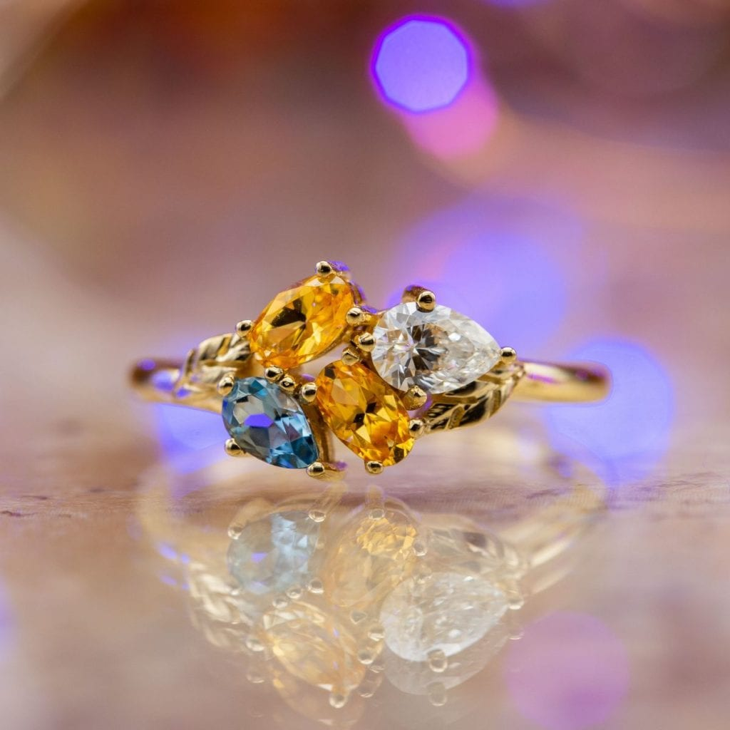 Cluster Engagement Ring by CustomMade