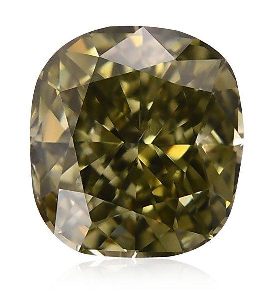 cushion fancy dark si1 chameleon diamond