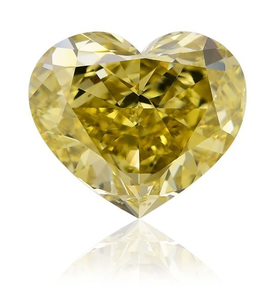 heart shaped fancy deep si1 chameleon diamond