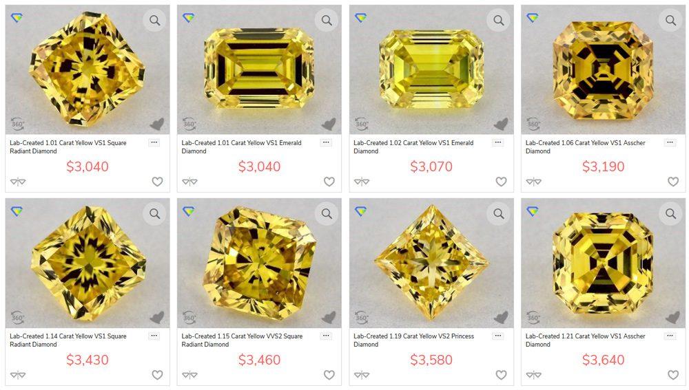 lab colored diamonds