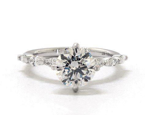 14k gold shared prong diamond ring james allen