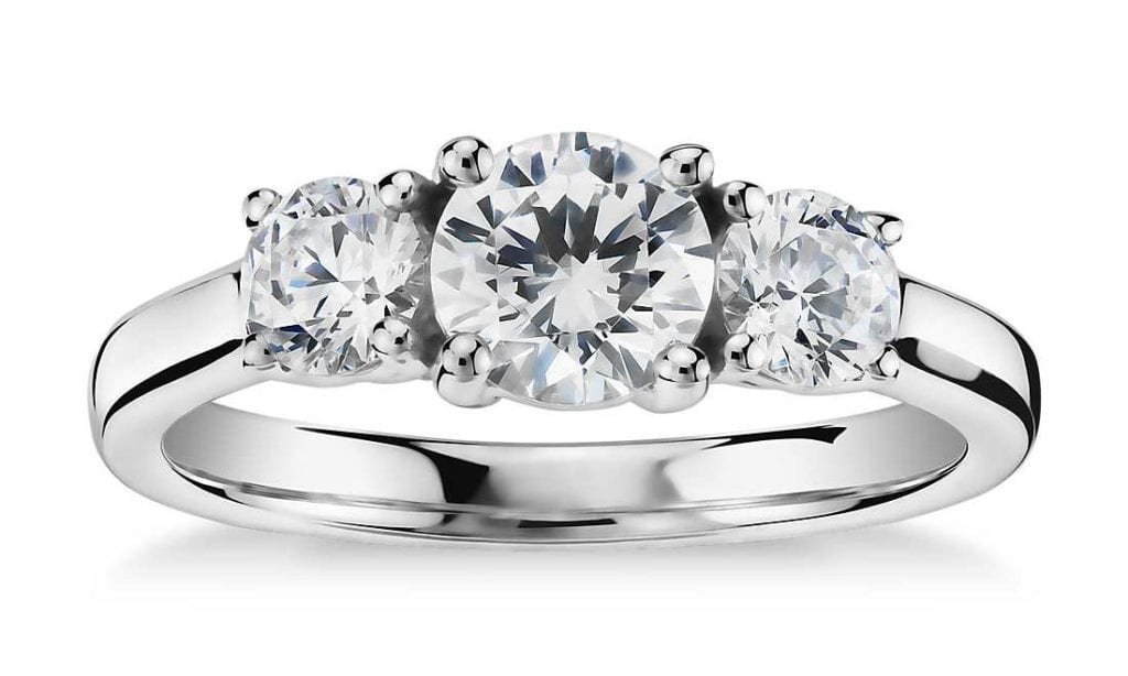 Classic Three-Stone Diamond