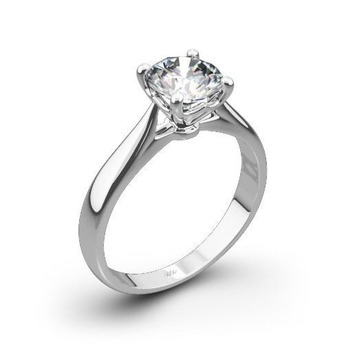legato sleek line solitaire engagement-ring in white gold white flash