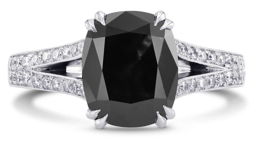 leibish black diamond ring