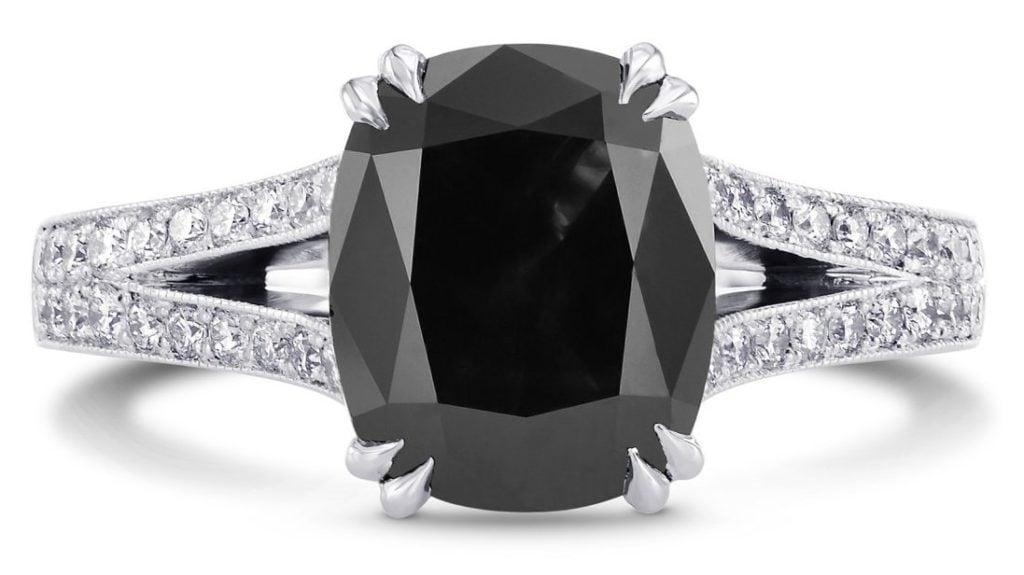 leibish black diamond ring