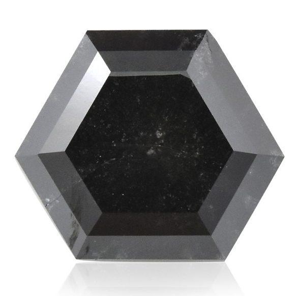 leibish hexagonal fancy black