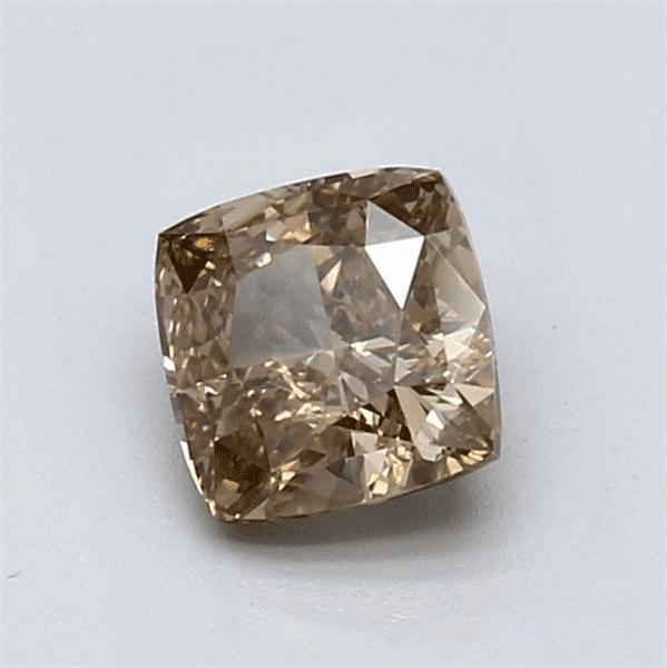 1.00-Carat Yellow-brown Cushion Cut Diamond Blue Nile