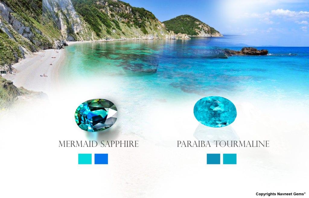mermaid sapphire vs paraiba tourmaline