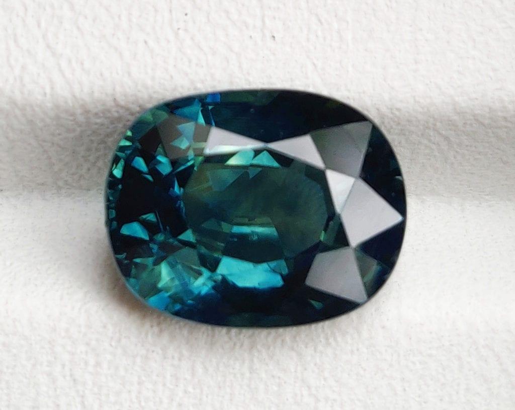 oval-cut mermaid sapphire