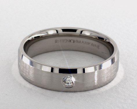 14K White Gold 6mm Beveled Bezel Set Diamond Wedding Ring James Allen