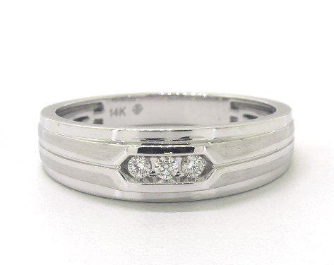 14K White Gold Trio Diamond Ring James Allen