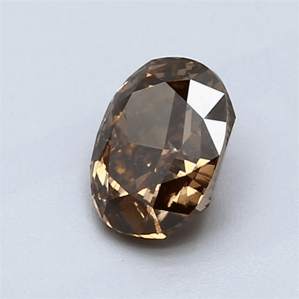 1.07-Carat Dark Yellowish Brown Oval Diamond Blue Nile
