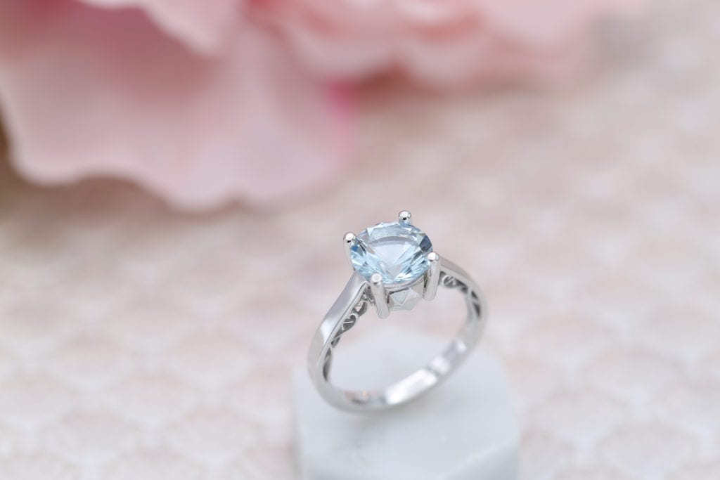 solitaire aquamarine setting